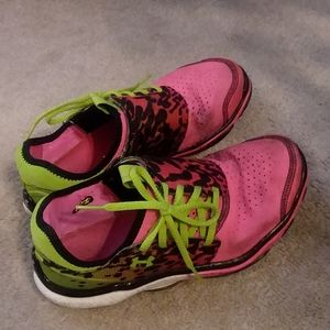 Worn athletic shoes